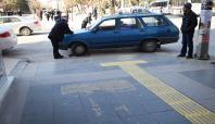 Elazığ Belediyesi'nden kaldırım ihlallerine ceza