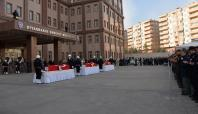 Diyarbakır'da hayatını kaybeden polisler için tören düzenlendi