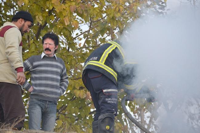 Hilvan'da bir evde yangın çıktı