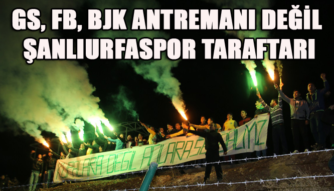 Taraftardan Şanlıurfaspor'a antremanda büyük destek