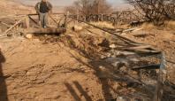 Ergani'de Makam Dağı'nın yürüyüş yolunda yangın
