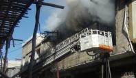 Gaziantep'te tekstil atölyesinde yangın