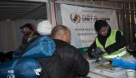 Avrupa Yetim-Der Makedonya sınırında mültecilere ulaştı