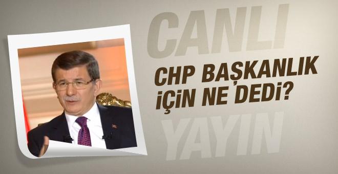 Davutoğlu'ndan canlı yayında flaş açıklamalar!