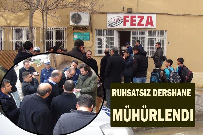 Ceylanpınar'da faaliyet yürüten Feza Dershanesi mühürlendi
