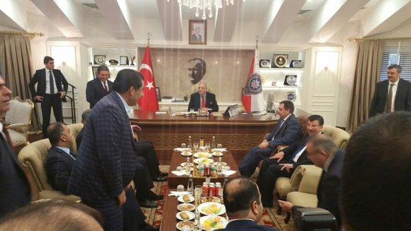 Türkeş Urfa Valiliğini Ziyaret Etti
