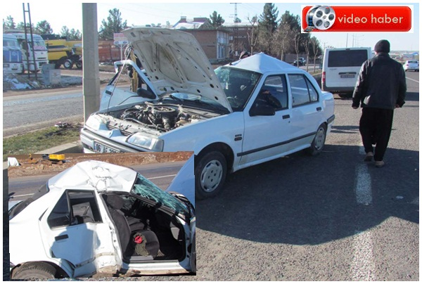 Urfa Siverek'te trafik kazası: 3 yaralı