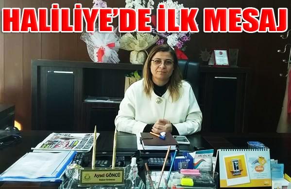 Haliliye Belediye Başkan Yardımcısı Aysel Göncü'den ilk mesaj