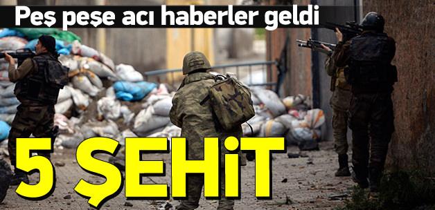 Acı haber: 5 asker hayatını kaybetti