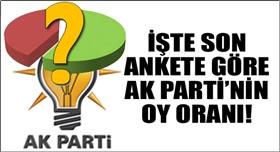 Son ankette AK Partinin oy oranı