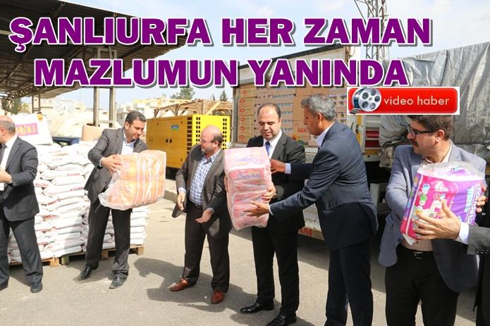 Urfa'dan Suriye'ye ve Güneydoğuya 4 TIR yardım gönderildi