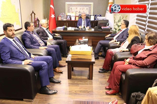 Ankara Altındağ heyet, Başkan Demirkol'u makamında ziyaret etti