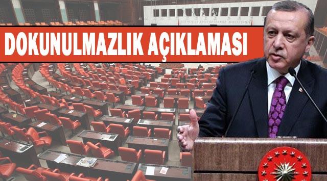Erdoğan'dan Dokunulmazlık açıklaması: siyasetçinin sırtında yüktür!