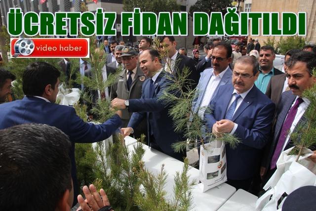 Orman Haftasında Anlamlı etkinlik! Urfa'da bedeva ağaç dağıttılar