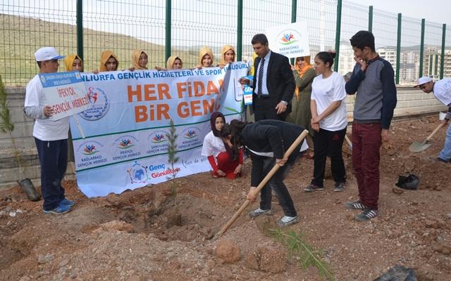 Karaköprü Nesibe Hatun Kız Anadolu İmam Hatip Lisesinde Fidan Dikimi