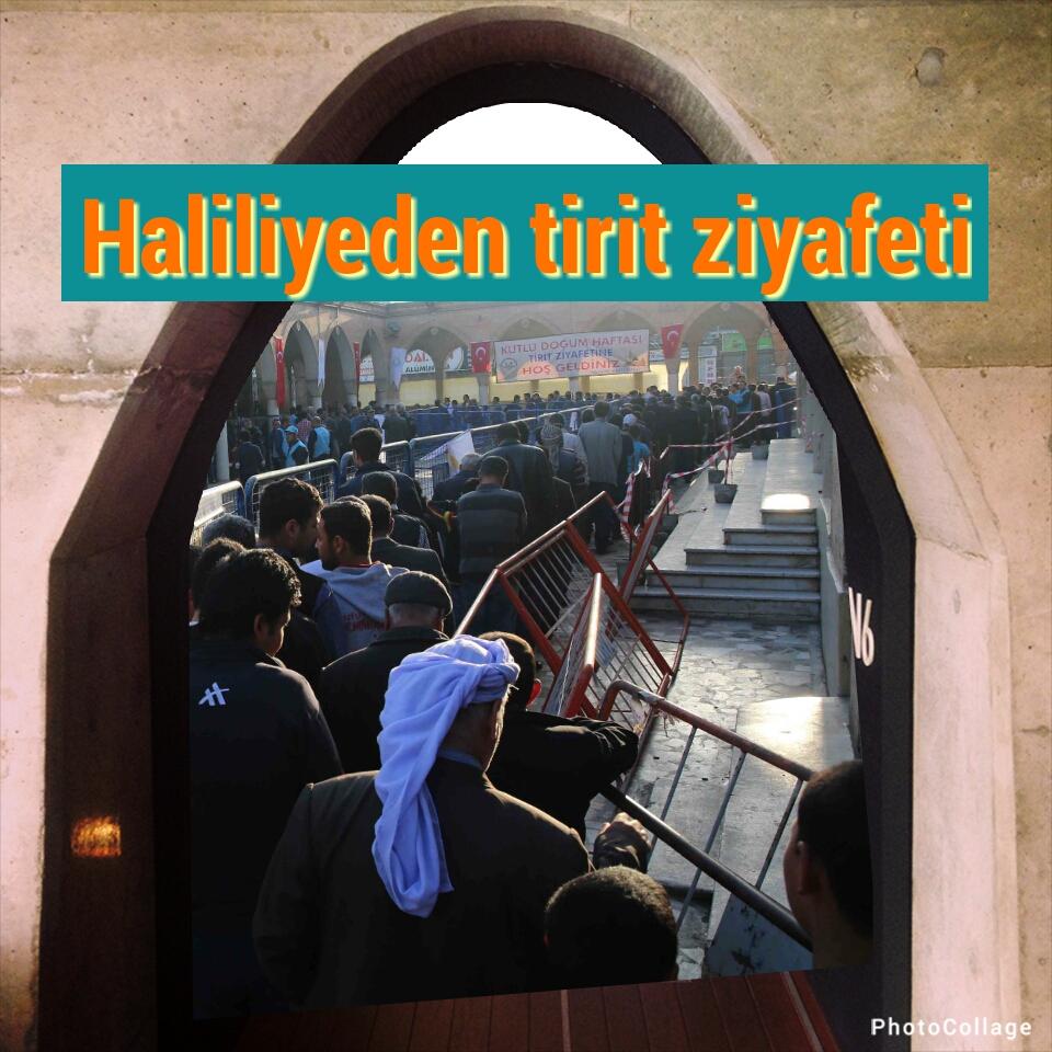 Haliliye Belediyesinden 7 bin 500 kişiye tirit ziyafeti