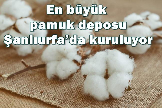 Urfa'da Türkiye'nin en büyük pamuk deposu yapılıyor