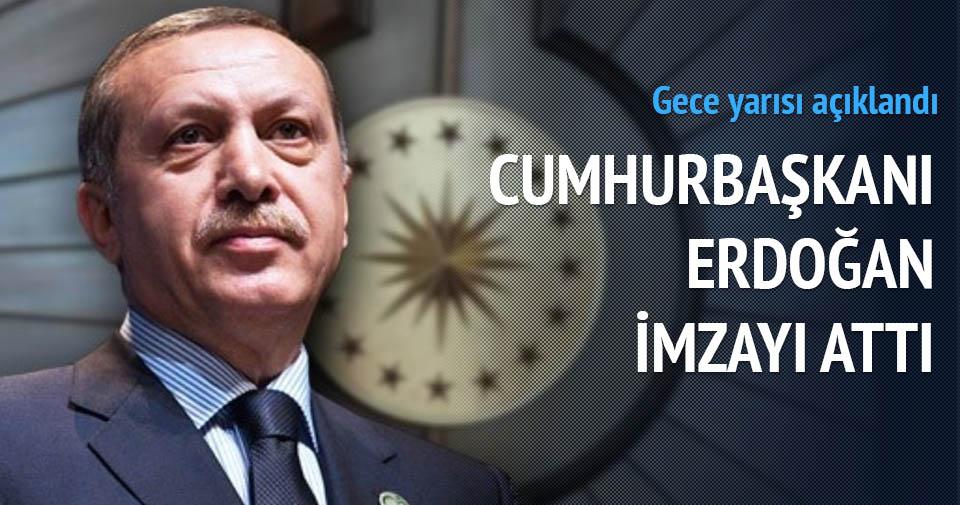 Torba kanunu Cumhurbaşkanı Erdoğan'ın onayından geçti