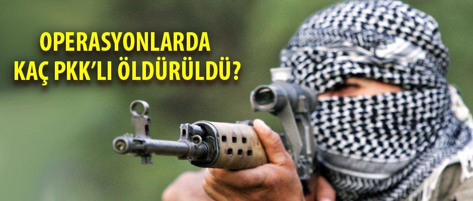 Genelkurmay açıkladı; onlarca PKK'li öldürüldü
