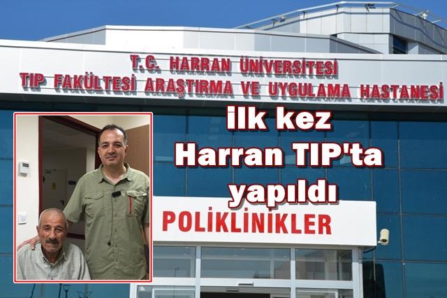 Urfa'da ilk kez Harran TIP'ta yapıldı