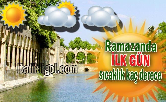 Ramazanın ilk günü havalar nasıl olacak? Urfa en sıcak il!