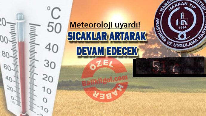 Şanlıurfa'da Termometreler 51 dereceyi gördü (20 Haziran 2016)