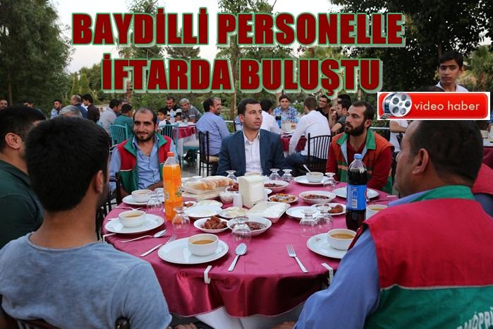 Başkan Baydilli Karaköprü Belediye Çalışanlarına iftar verdi
