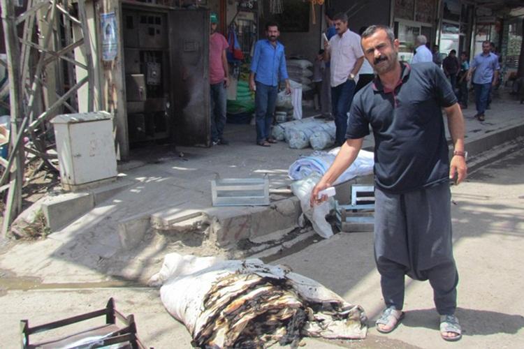 Siverek'teki Trafo yangın işyerine sıçradı