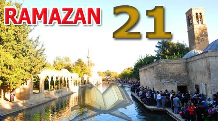 Ramazan ayı Kur'anı Kerim hatmi 21. cüz
