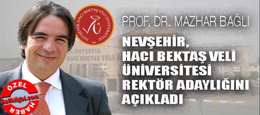 Urfalı Prof. Mazhar Bağlı, Nevşehir'de rektör adayı oldu