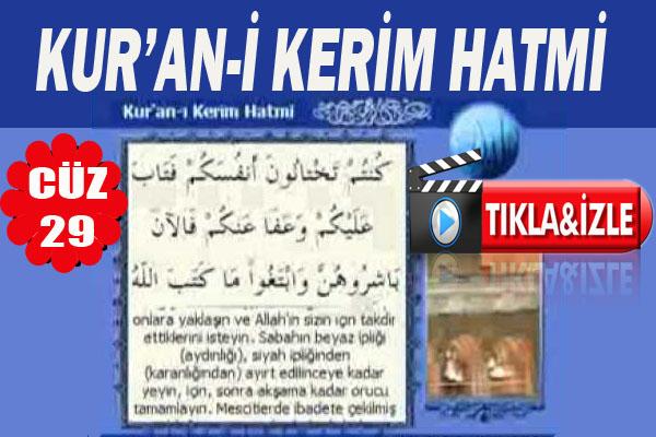 Kur'ân-ı Kerim 29.Cüz, OKU DİNLE
