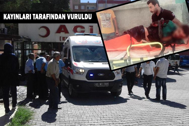 Urfa'nın Birecik İlçesinde Kayınlarının saldırısına uğrayan adam ağır yaralandı