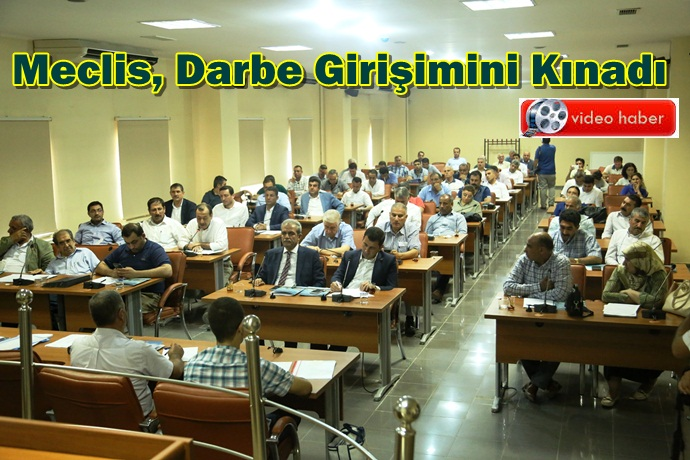 Şanlıurfa Büyükşehir Meclisi Darbe Girişimini Kınadı
