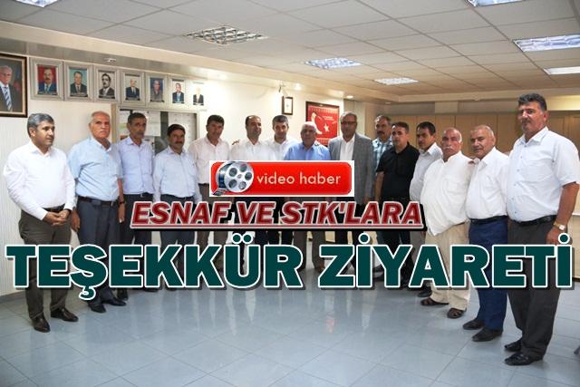 Başkan Nihat Çiftçi esnafı bir bir ziyaret etti