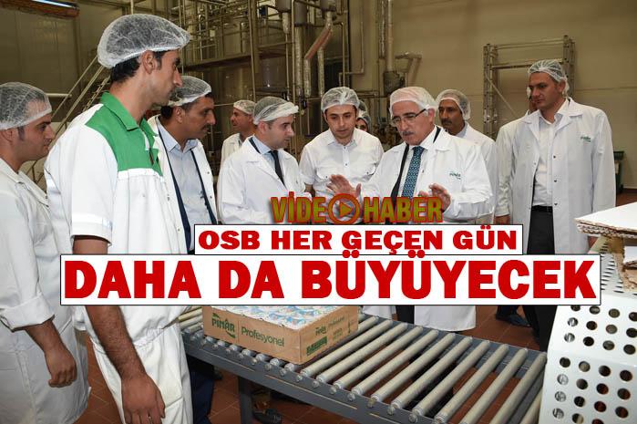 Vali Tuna OSB'de fabrikaları dolaştı