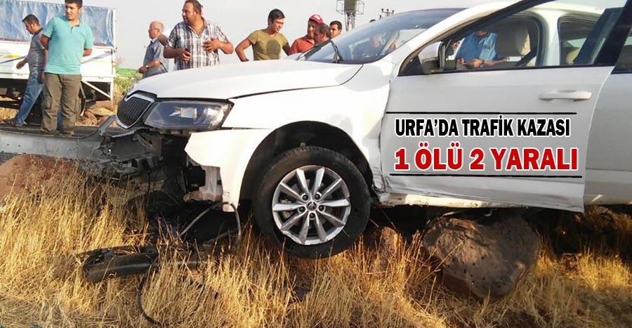 Şanlıurfa Otomobil kayalıklara çarptı: 1 ölü 2 yaralı