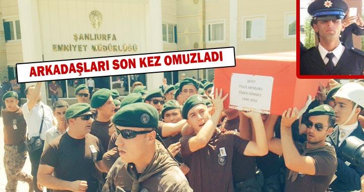 Urfa'da Şehit Olan polis Ömer Sönmez memleketine uğurlandı