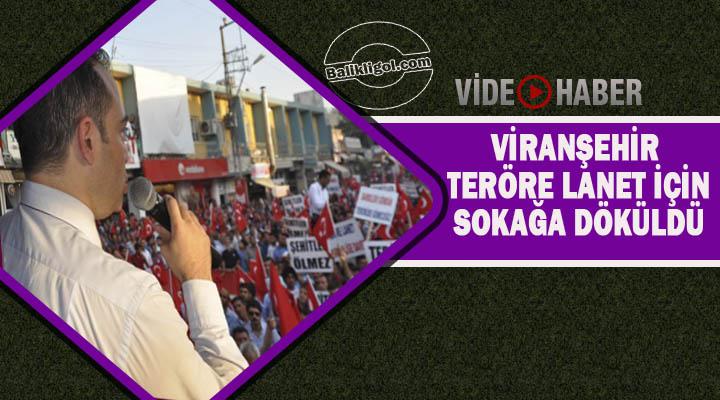 Viranşehir'de binlerce kişi teröre lanet için yürüdü