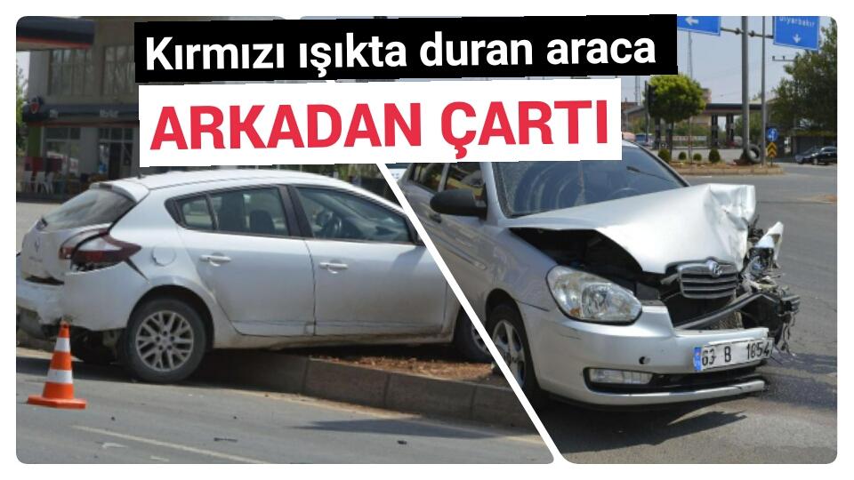 Urfa'da maddi hasarlı kaza
