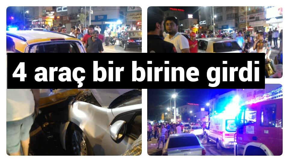 Urfa şehir içinde zincirleme kaza!