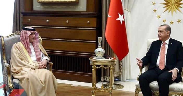 Cumhurbaşkanı Erdoğan, Suudi Bakan Al Jubeir'i kabul etti