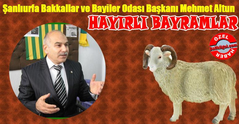 Mehmet Altun'dan bayram mesajı