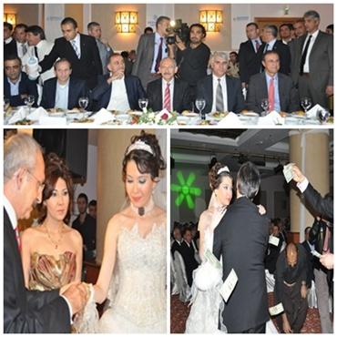 Kılıçdaroğlunun katıldığı düğünde dolar yağdı