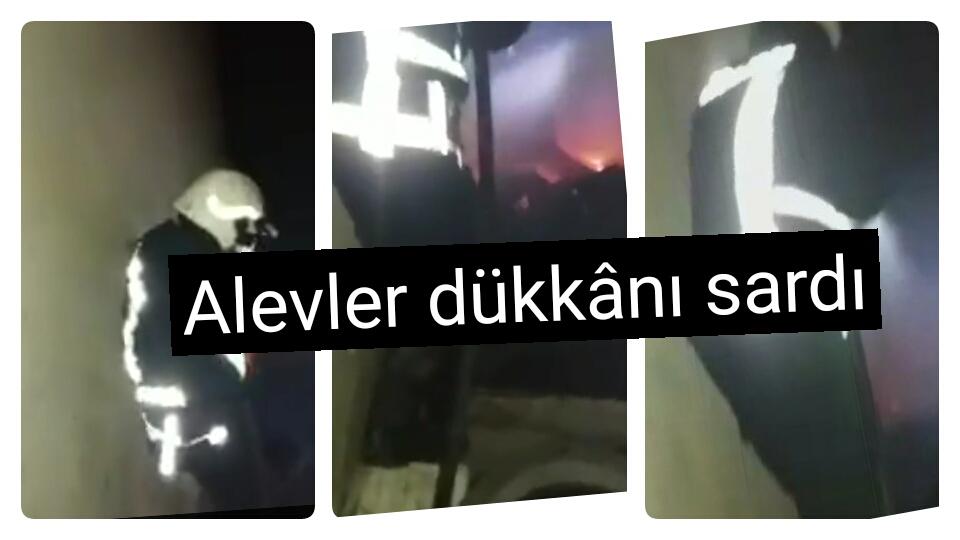 Şanlıurfa'da lastikçi dükkânı yandı