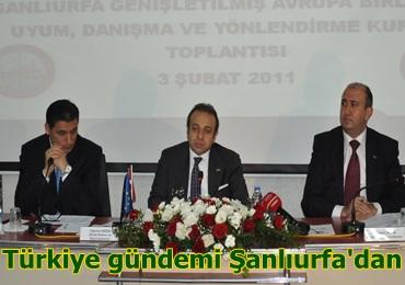 Bakan Bağış; Türkiye'nin planını urfadan veriyoruz