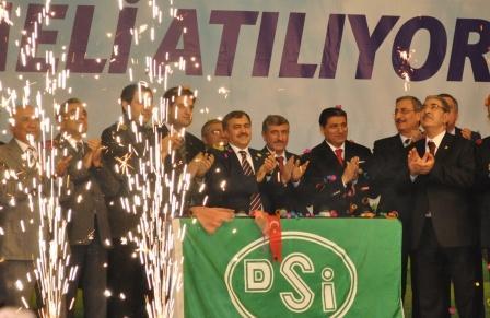 Eroğlu, Urfa'da DSİnin temel atma törenine katıldı
