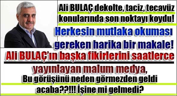 Ali Bulaç dekolte tartışmasına son noktayı koydu!