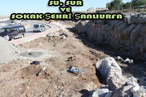 Urfa'da Kent Girişlerine Şelaleler Yapılıyor