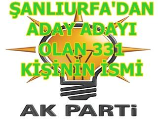 İşte Urfa milletvekili aday adayların isimleri TAM LİSTE