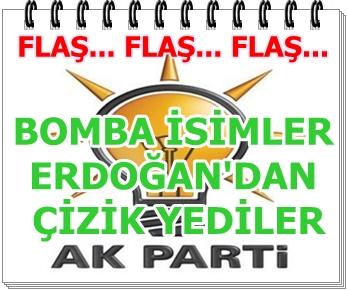 Bomba iddia Sözcü gazetesinden.. Gazetenin iddiasına göre AK Partide bomba isimler Erdoğandan çizik yedi. Peki kim o isimler...